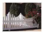 Duramax Vinyl Scalloped Picket Fence
